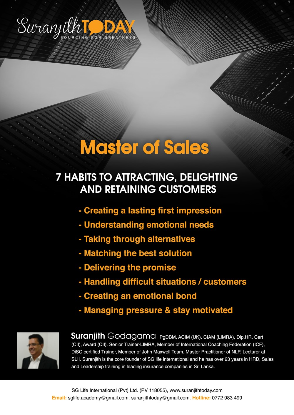 Mater of Sales